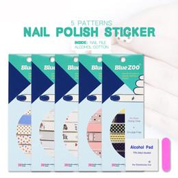 2019 dicas designer unhas 5 pçs / lote Nova venda quente Bonito Dos Desenhos Animados Unhas Animais Padrão Manicure Polonês Adesivos À Prova D ...