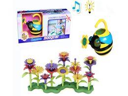 Argentina Flores en maceta Kinder hecho a mano DIY educativo iluminación música con flores tridimensionales regadas por abejas Suministro