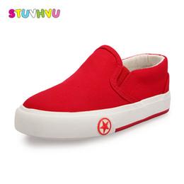 c8b09eac Nuevo Color sólido para niños Zapatos de lona Unisex Niños Chicas Zapatillas  de deporte casuales Zapatillas sin cordones para niños Calzado deportivo  Blanco ...