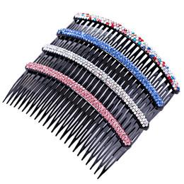 A-08 version coréenne de strass bangs peigne insert peigne large en épingle à cheveux disque long dents dent peigne peignes peignes chapeaux en gros ? partir de fabricateur