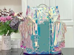 Лазерный рюкзак онлайн-дизайнерские рюкзаки прозрачные лазерные женские дизайнерские сумки высшего качества из ПВХ материала кошельки дизайнерские мужские рюкзаки высшего качества