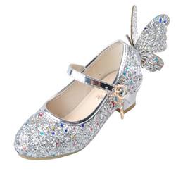 ULKNN Bébé Princesse Filles Chaussures Sandales Pour Enfants Paillettes Papillon Faible Talon Enfants Chaussures Filles Partie Enfant meisjes schoenen ? partir de fabricateur