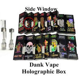v4 vapeur Promotion La boîte holographique empaquetant des cartouches de stylo vides de vaporisateurs vides de concepteurs de M6T Dank Vapes forme la saveur en céramique d'atomiseur de cigarette de la bobine E de la bobine E