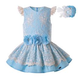 Vestidos de vestidos de festa on-line-Wedding Party Criança Pettigirl verão para meninas Vestido de renda Princess Party Crianças Porno vestidos elegantes Roupa 2019 G-DMGD203-27