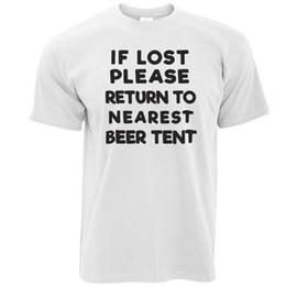 Casual Fitness T-shirts Drôle Si Perdu Retour À La Tente De Bière Festival Drinking Party Imprimer Crew Neck Tee Pour Hommes ? partir de fabricateur