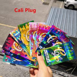 2019 vente chaude 10 saveurs Cali Plug Chariots holographiques arc-en-ciel Ziplock sacs d'emballage avec preuve d'enfant pour Cali Plug cartouches de Vape ? partir de fabricateur