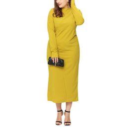 Plüsch farbe kleid online-Damen sexy rundhals dress einfarbig plüsch schlank langarm weiblich tops casual pullover dress