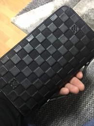 Canada Nouveau Zippy XL portefeuille rond sac de voyage à glissière Black Purse Men Real Epi en cuir M61506 Brown sac passeport titulaire designer Damier Ebene embrayage Offre