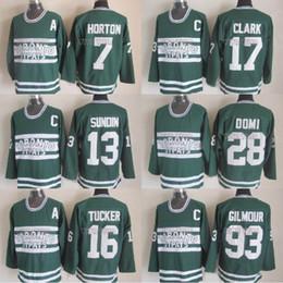 Маты sundin онлайн-16 Darcy Tucker Хоккейный Джерси Торонто St Pats 13 Матс Сундин 28 Tie Domi 17 Кларк 7 Хортон Сшитый Хоккей Джерси