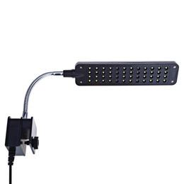 Peixe aquário clipe lâmpada on-line-48 LEDs Azul Branco Fish Tank Light LED Flexível Clip Aquarium Lamp