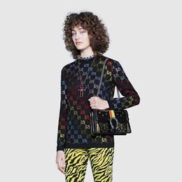 2019 maglione a maglia arcobaleno 2019 New Fashion Designer Maglione di alta qualità di lusso nero maglia lettera camicia arcobaleno caldo di perforazione maglione di lana taglia S-L maglione a maglia arcobaleno economici