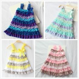 junioren sommerkleidung Rabatt Kinder Patchwork Kleid Kinder Spitze Party Outfits Junior Kleidung Mädchen Schule Kostüm Lässig Strand Kleider Infant Sommer Vestidos