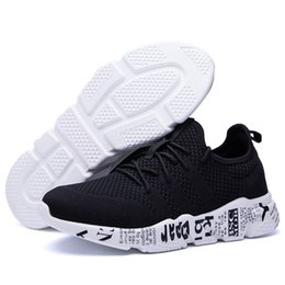 young men shoes Promo Codes - 2019 Hot Cheap Mens Shoes Young Boys Fabric Breathable Sports Walking Shoes Male Sneakers Big Size Simple Stylish Zapatillas Man