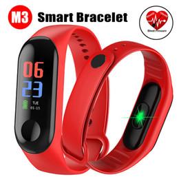 bluetooth armbänder armbänder Rabatt M3 Fitness Armband Blutdruck Outdoor IPS Bildschirm Pulsmesser Leben Wasserdicht Smart M3 Armbänder PK Mi Band 3 Apfel Uhr