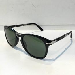 lunettes de soleil persol Promotion Lunettes de soleil Persol Série 714, designer italien Pliot Lunettes de style classique Forme unique Protection UV400 de première qualité pouvant être pliée Style