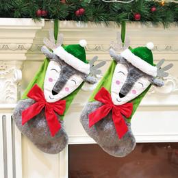giocattoli all'ingrosso del harry potter Sconti Chrismas Socking Sacchetti regalo Elk Bow Peluche Albero di Natale Ciondolo Sacchetto regalo Decor Calze Candy Forniture per festival 08