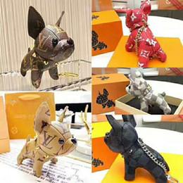 2019 ultimi accessori per portachiavi accessori per uomo e donna di lusso portachiavi con design del marchio bulldog francese accessori per portachiavi da i telefoni delle palme fornitori
