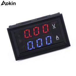 """Voltímetro de panel digital led online-2 unids / lote 0.28 """"LED DC0-100V 10A amperímetro voltímetro digital 2in1 Multímetro 12V / 24V Medidor de amperaje de voltaje Volt Amp Gauge Panel"""