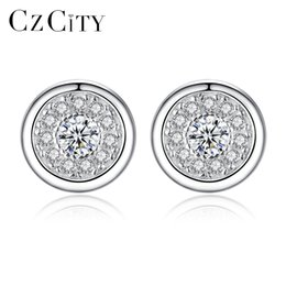b66046cec PAG&MAG 925 Sterling Silver Stud Earrings for Women Micro Pave Cubic Zircon Earring  Studs Ear Thick Earplugs Piercing Post Earing