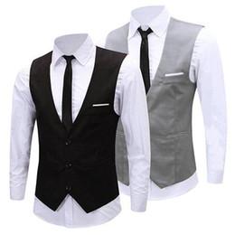 smokings mais frescos Desconto Clássico formal Negócios Slim Fit Cadeia Vestido Vest Suit Men Tuxedo Colete 08WG alta qualidade New fresco