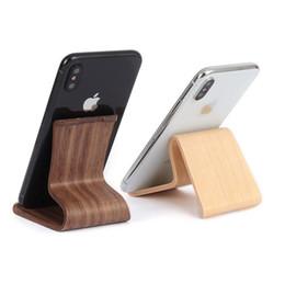 Деревянная бамбуковая подставка для мобильного телефона - универсальная стойка для настольных телефонов - деревянная подставка для телефона 2 цвета от