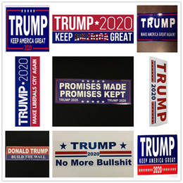 make car stickers Coupons - 10pcs Lot Donald Trump Car Sticker for President 2020 Bumper Make America Great Again Pvc Car Stickers Accessory Car Styling Decal New B5601