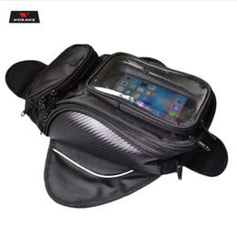 sacchetto del serbatoio della moto Sconti Borse da serbatoio impermeabili WOSAWE Borsa da serbatoio di carburante olio nero Borsa da moto da moto magnetica Borsa da motocicletta a spalla singola