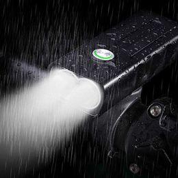 USB recarregável luz da bicicleta frente, 3 LED 1000 Lumen Runtime 10 horas construído na bateria farol da bicicleta acessórios à prova d 'água de alumínio BX3 de Fornecedores de levou 24v impermeável