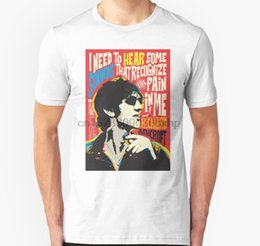 Top pops camiseta online-Hombres camiseta Cita de Richard Ashcroft Pop Art unisex mujeres de la camiseta t-shirt camiseta top