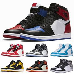 100% authentic ab043 1682e Mens 1s Top Pine Green Court Lila Chicago OG 1 Spiel Royal Blue Basketball-Schuhe  Rückwand Sport Sneaker Trainer Größe 5.5-13