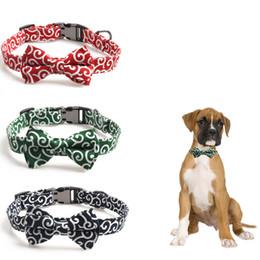 collar de perro pajarita mediano Rebajas Estilo japonés Bowknot Semimetal Hebilla Mascotas Collares de perro Pequeños Perros Medianos Collar Juego de Correas Conjunto Ajustable Collar de Pajarita