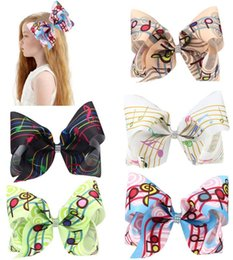 piano accessories Coupons - free shipping 10pcs 8inch piano music handmade boutique hair bow with alligator clip jojo big large girl hair accessories
