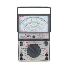 2019 medidor de circuito MF-47L Multímetro analógico DC / AC Medidor de corriente Detección de infrarrojos Computadora de mano hFE Probador Multitester Zumbador de alarma