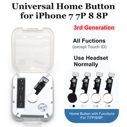 Pulsanti domestici di iphone online-3rd Home Button Flex per iPhone 7 8 Plus Return Home Function Solution Parti di riparazione chiave di terza generazione