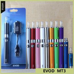 2019 sigaretta elettronica evod bcc EVOD BCC MT3 kit di avviamento blister sigaretta elettronica 650/900 / 1100mAh batteria EVOD 2.4ml atomizzatore MT3 clearomizer sigaretta elettronica evod bcc economici