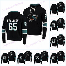 joe thornton hoodie Sconti 65 Erik Karlsson San Jose Sharks con cappuccio Maglie 8 Joe Pavelski 9 Evander Kane 19 Joe Thornton 39 Logan Couture 88 Brent Burns Logan Couture