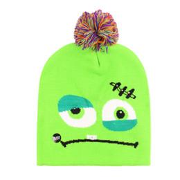 16 quente Led Halloween Natal chapéus feitos malha Baby Kids Moms Inverno Gorros Crochet Caps Para abóbora bonecos de neve partido Festival por amazzz de