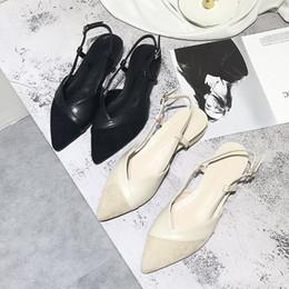 b998a225 2019 verano nuevo estilo simple y simple color sólido puntiagudo zapatos  planos mujeres cómodos salvajes zapatos casuales.