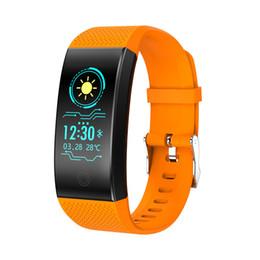 Relógio de pulso de saúde inteligente on-line-Smart watch qw18 smartwatch pulseira rastreador de fitness relógio de saúde ip68 à prova d 'água relógio de pulso ao ar livre smartband tela colorida para ios android