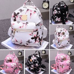 pink bags for flower girl Coupons - Fashion Women Backpack High Quality Youth Floral Print Backpacks for Teenage Girls Female School Shoulder Bag Bagpack mochila