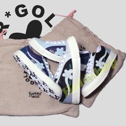 Wholesale 2019 Lienzo para hombre Woemn Diseñador de zapatos Una estrella Buey Tyler el creador Golf Le Fleur Jade Lime Green Skater Sneakers zapatos casuales