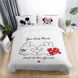 2019 hojas de impresión jirafa San Valentín conjunto de funda nórdica romántica tamaño king queen doble completo doble ropa de cama individual