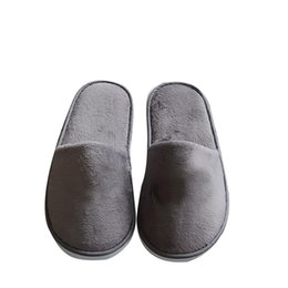 Chinelos convidados on-line-Hot Sale-Senza Fretta Men Portable Slippers Thick Bottom Non-slip Slippers Hotel Travel Guests Men Special Non-disposable 28.5cm