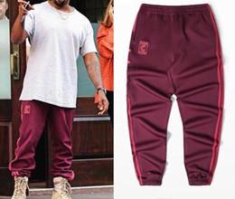 hip-hop-besatzung Rabatt Kanye west Season 4 Rundhalsausschnitt Jogginghose CALABASAS Hosen Männer lose Jogger Komfortable Männer Elastische Hose