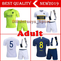 boca juniors jersey thai Coupons - 2018 20109 Boca Juniors Home Adult kit Soccer jerseys Uniforms Men's Thai Quality Soccer Jersey Away GAGO TEVEZ Football shorts+socks
