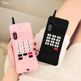 Lindas cubiertas de teléfonos móviles online-OnePlant 3D Cartoon Cute Phone funda de silicona suave para iPhone 6 6s Plus X XR Xs Max 7 8 Plus fundas para teléfono Coque Capa