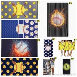 toalha de fibra Desconto Beisebol Toalha De Praia Retângulo Softball Toalha Esporte Toalhas De Microfibra Cobertores De Fibra Superfina Acessórios De Praia EEA39