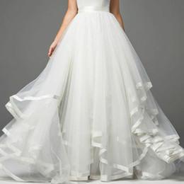 vestido de boda del tutú de las mujeres Rebajas 2020 nuevo vestido de novia largo barato falda de novia tul tutú mujeres novia cóctel baile de graduación falda