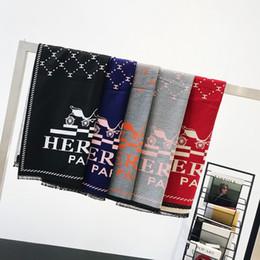 giacca rossa del rame della pelliccia del faux Sconti 5 colora il suo donne di lusso del capo della sciarpa 380g donne 180 * 70 Blended cashmere lavorato a maglia