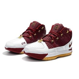 online store 05234 c3db7 Günstige neue Lebron 3 Basketballschuhe Green Home Schwarz Gold Weiß Rot  SuperBron Navy hohe Spitze Youh Kinder Lebrons 16 Sneakers Stiefel mit Box